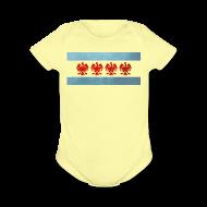 Baby Bodysuits ~ Baby Short Sleeve One Piece ~ Polish Chicago Flag