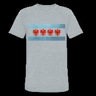 T-Shirts ~ Unisex Tri-Blend T-Shirt ~ Polish Chicago Flag