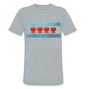 Polish Chicago Flag - Unisex Tri-Blend T-Shirt by American Apparel