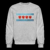Long Sleeve Shirts ~ Crewneck Sweatshirt ~ Polish Chicago Flag