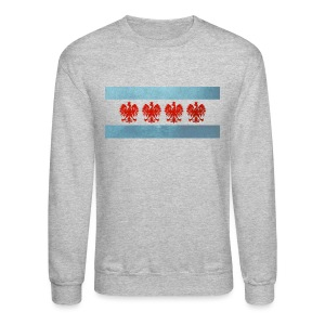 Polish Chicago Flag - Crewneck Sweatshirt