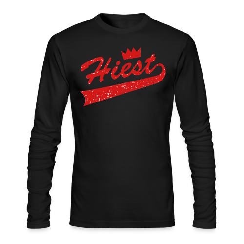 Black Classic Crown - Jordan 5 'Supreme' - Men's Long Sleeve T-Shirt by Next Level