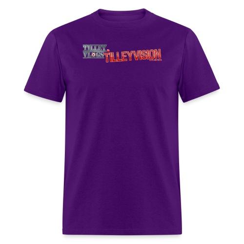 Purple TilleyVlogs Logo Shirt - Men's T-Shirt