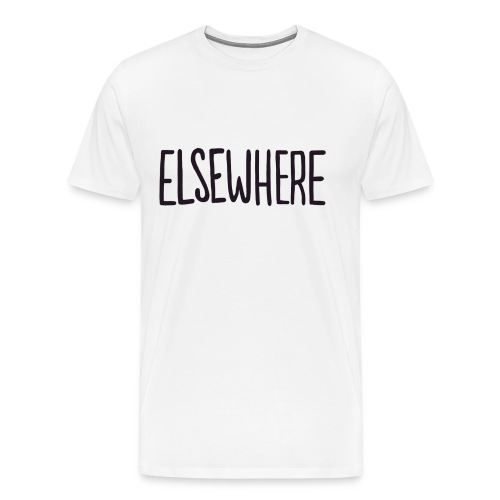 elsewhere logo - Black - Men's Premium T-Shirt