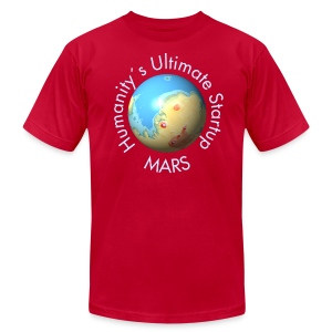 Mars Mola map after terraforming - Men's Fine Jersey T-Shirt