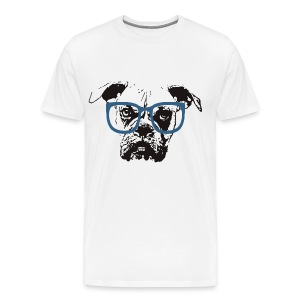 Hipster dog - Men's Premium T-Shirt