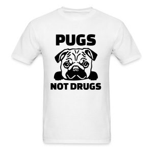 Pugs not drugs (Men) - Men's T-Shirt