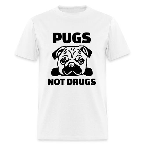 Pugs not drugs (Men) - Men's T-Shirt