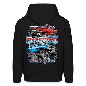 Built Truck Tough Shirt BACK - Men's Hoodie