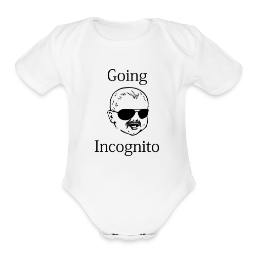 going incognito baby - Organic Short Sleeve Baby Bodysuit