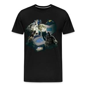 Three Wolf Rocky - Men's Premium T-Shirt