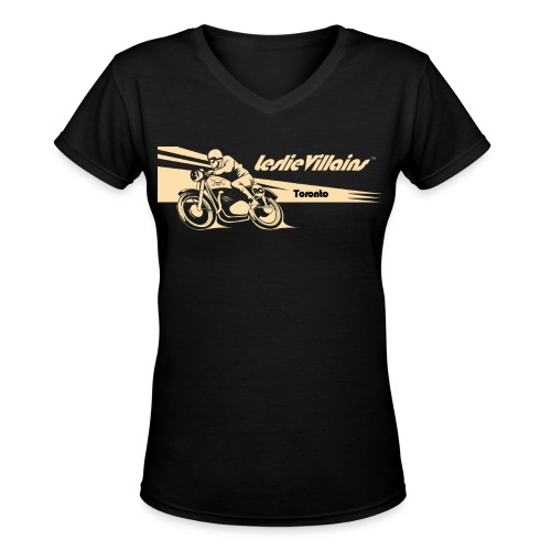 Women's Cafe Racer V neck - Women's V-Neck T-Shirt