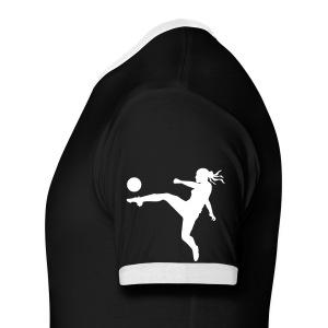 black soccer  - Men's Ringer T-Shirt