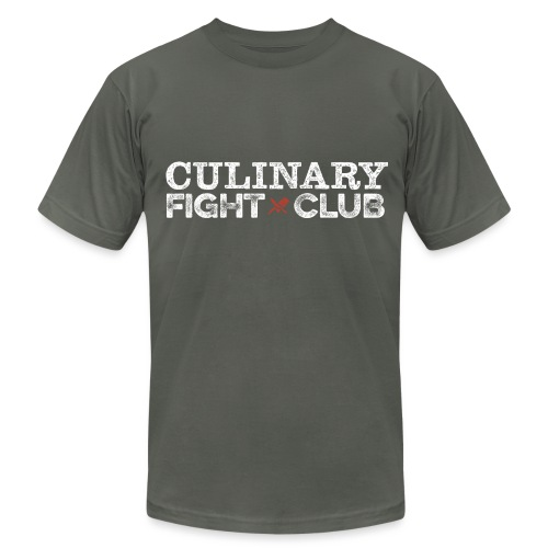 Culinary Fight Club - Dark Gray Tee - Men's T-Shirt by American Apparel