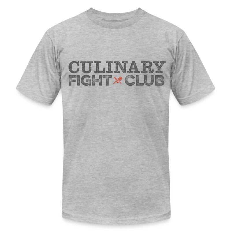 Culinary Fight Club - Light Gray Tee - Men's T-Shirt by American Apparel