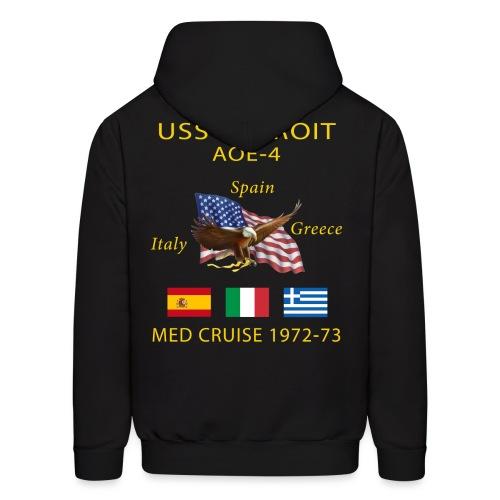USS DETROIT AOE-4 1972-73 CRUISE HOODIE - Men's Hoodie
