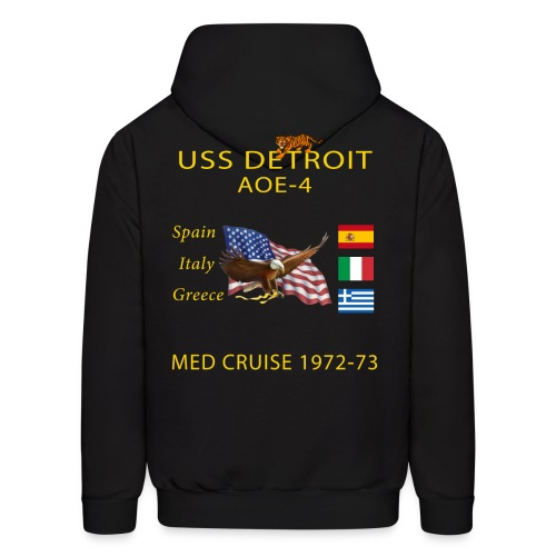 USS DETROIT AOE-4 1972-73 CRUISE HOODIE WITH TIGER - Men's Hoodie