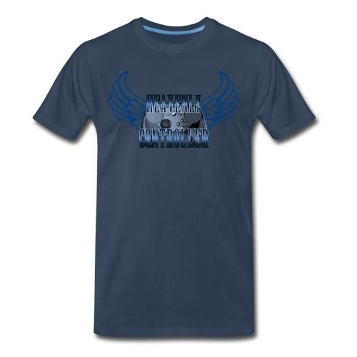 Heavenly Controller Winged T-Shirt - Men's Premium T-Shirt