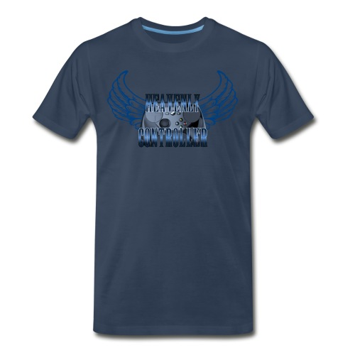 Heavenly Controller Winged T-Shirt - Men's Premium T-Shirt