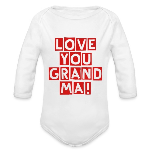 Family love - Organic Long Sleeve Baby Bodysuit