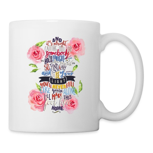 Home (with roses) Mug - Coffee/Tea Mug