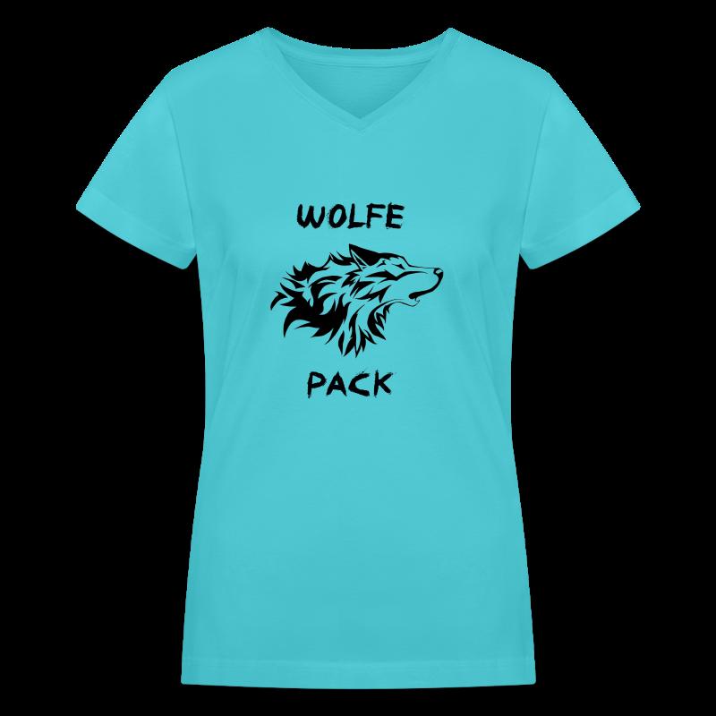 Wolfe Pack (Ladies) - Women's V-Neck T-Shirt