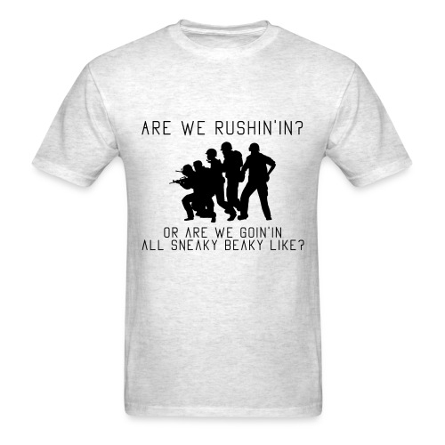 Are We Rushing - Men's T-Shirt