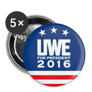 Uwe Boll for President of the United States of America Button 5-pack (design 1) - Large Buttons