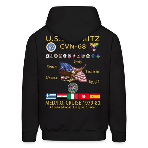 USS NIMITZ CVN-68 MED/IO CRUISE 1979-80 HOODIE - Men's Hoodie
