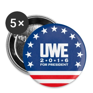 Uwe Boll for President of the United States of America Button 5-pack (design 2) - Large Buttons