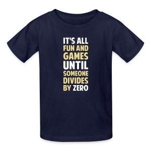 Dividing By Zero Is Not A Game - Kids' T-Shirt