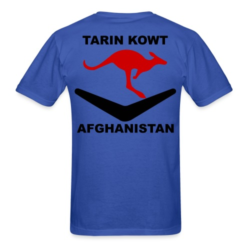 Multi-National Base Tarin Kowt T-Shirt - Blue - Men's T-Shirt