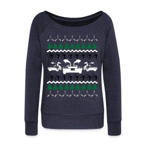 Back to the Future Ugly Christmas Sweater Long Sle - Women's Wideneck Sweatshirt
