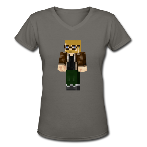 Minecraft Jon (Ladies) - Women's V-Neck T-Shirt