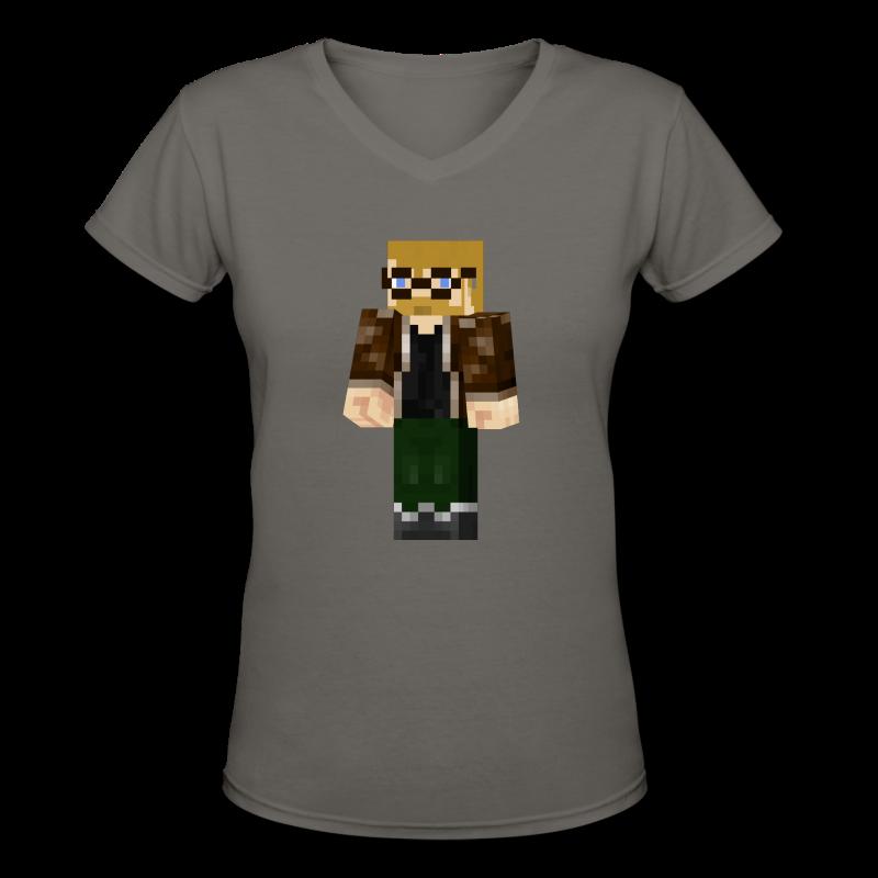 Minecraft Jon (Ladies) - Women's V-Neck T-Shirt