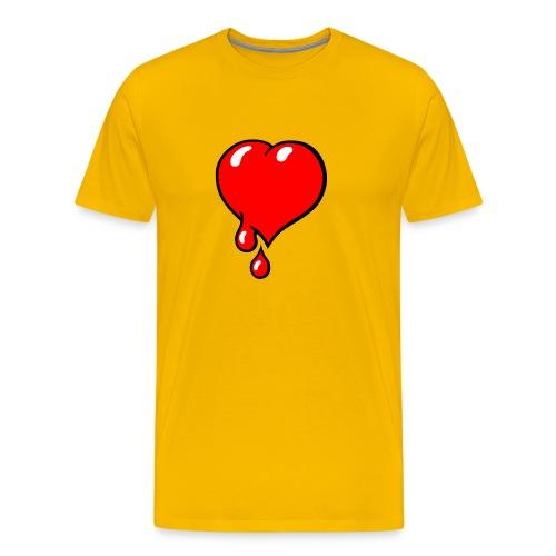 Red Bleeding Heart liberal - Men's Premium T-Shirt
