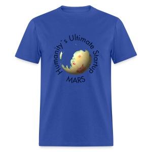 Mars Mola map after terraforming - Men's T-Shirt
