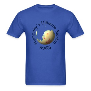 Mars Mola map after terraforming - Men's T-Shirt