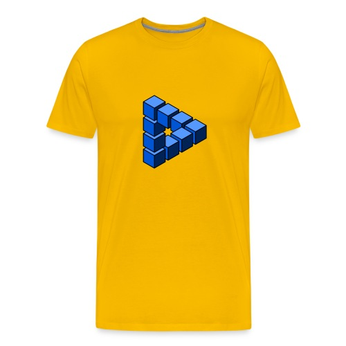 Impossible construction of a triangle - Men's Premium T-Shirt