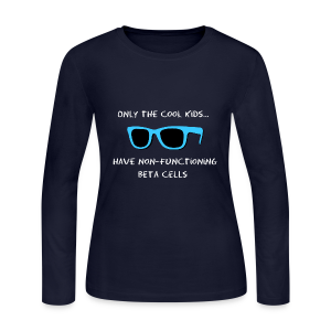 Only the Cool Kids have Non-functioning Beta Cells - Blue - Women's Long Sleeve Jersey T-Shirt