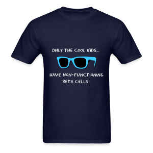 Only the Cool Kids have Non-functioning Beta Cells - Blue - Men's T-Shirt