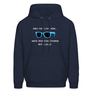 Only the Cool Kids have Non-functioning Beta Cells - Blue - Men's Hoodie