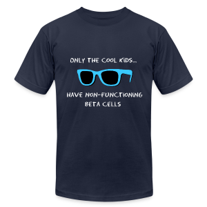 Only the Cool Kids have Non-functioning Beta Cells - Blue - Men's T-Shirt by American Apparel