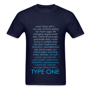 Type One Ombre Design - Blue - Men's T-Shirt