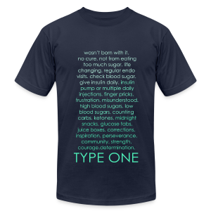 Type One Ombre Design - Green - Men's T-Shirt by American Apparel