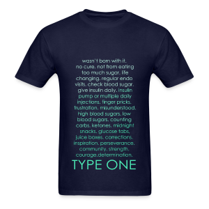Type One Ombre Design - Green - Men's T-Shirt