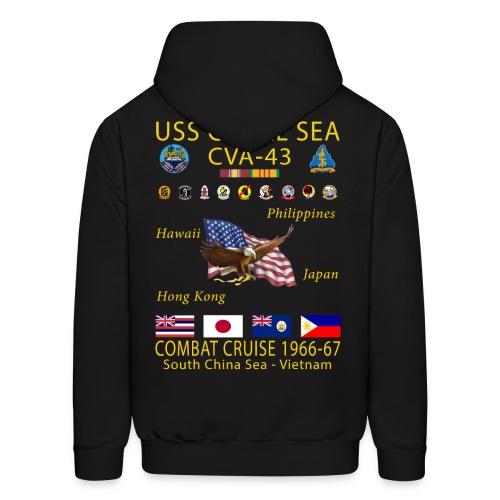 USS CORAL SEA 1966-67 CRUISE HOODIE - Men's Hoodie