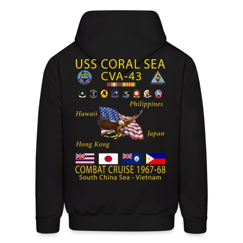 USS CORAL SEA 1967-68 CRUISE HOODIE - Men's Hoodie
