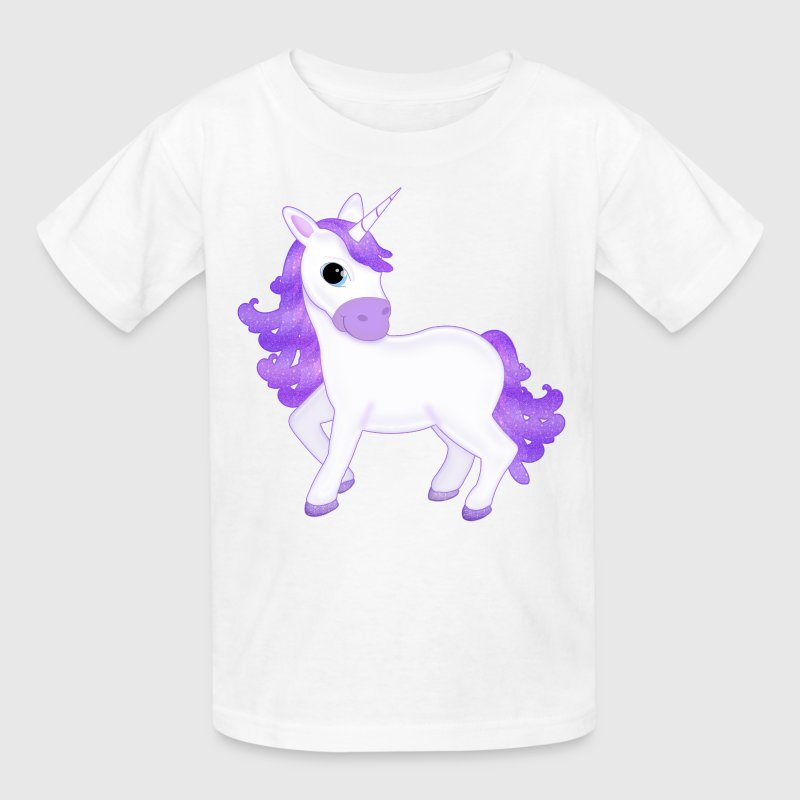 Kawaii Purple Unicorn T-Shirt - Kids' T-Shirt