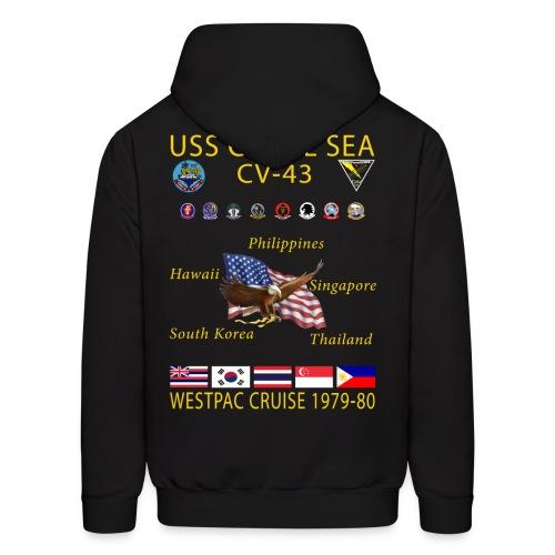 USS CORAL SEA 1979-80 CRUISE HOODIE - Men's Hoodie